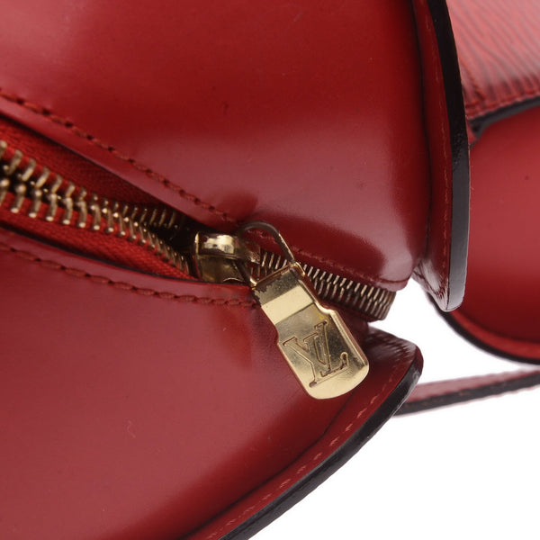 Red Epi Leather Papillion Hand Bag