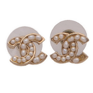 CC Logo Pearl Earrings