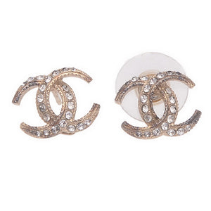 CC Logo Crystal Embellished Earrings