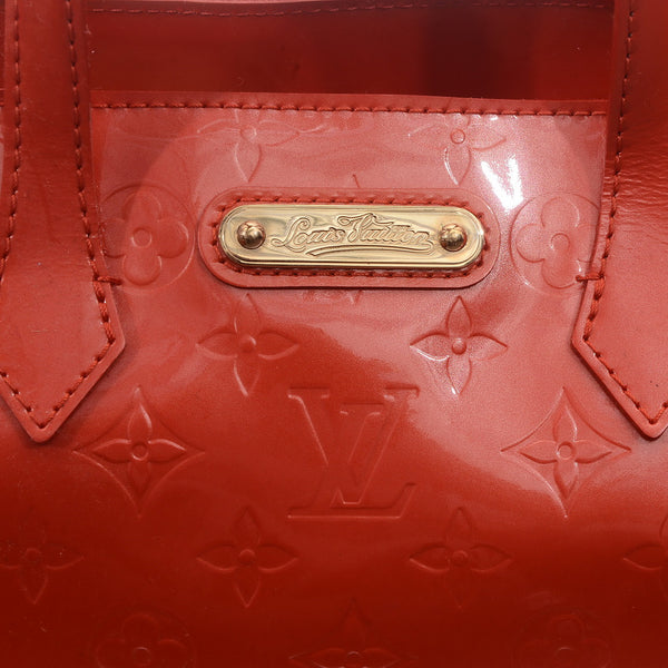 Orange Sunset Monogram Vernis Wilshire PM Bag