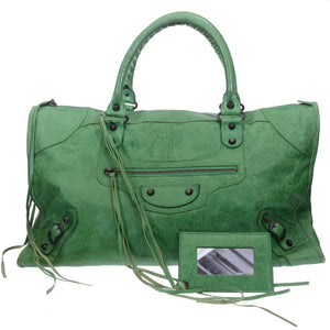 Green Large Shopper City Bag
