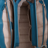 Turquoise Bright Diamante Medium Top Handle Bag