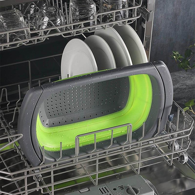 Collapsible Over Sink Colander with Handles | Eazy&Homey