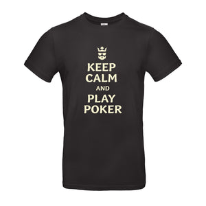 "T-shirt noir ""Keep calm and play poker!"""