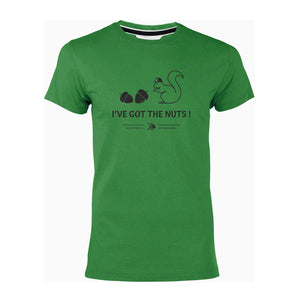 "T-shirt vert ""I've got the nuts!"""