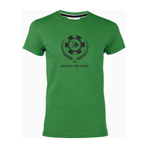 "T-shirt vert ""One chip one chair!"""