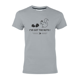 "T-shirt gris ""I've got the nuts!"""