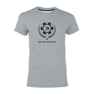 "T-shirt gris ""One chip one chair!"""