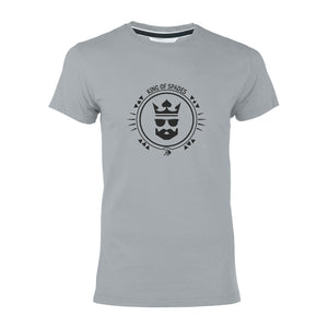 "T-shirt gris ""Poker face"""