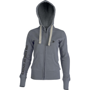 Sweat à capuche zippé gris