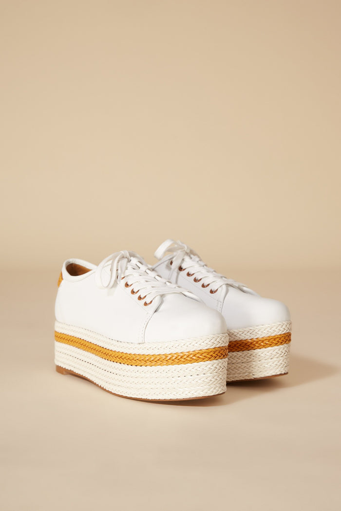 PROMINENT LEATHER PLATFORM SNEAKER