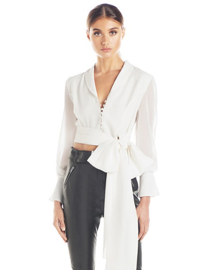 JULIANNA TIE WRAP TOP