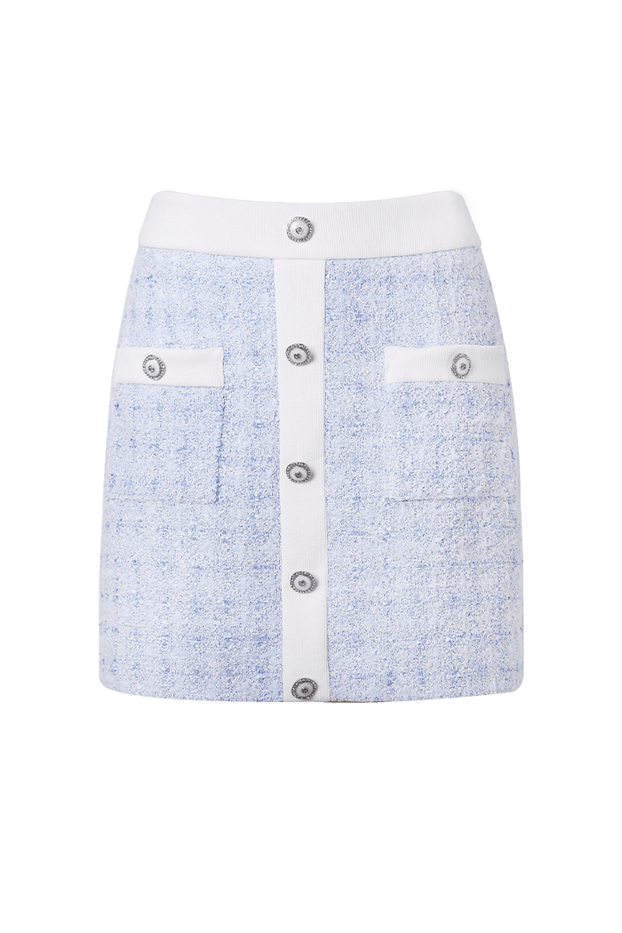 TWEED SKIRT (BLUE)
