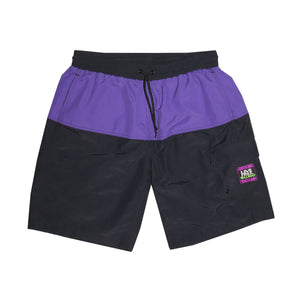 ALL DAY SWIM SHORT - BLACK / PURPLE