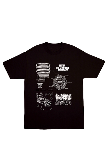 BOYS ARCHIVE X SOMETHING WONDERFUL UTOPIA T-SHIRT - BLACK