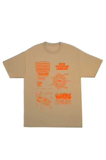 BOYS ARCHIVE X SOMETHING WONDERFUL UTOPIA T-SHIRT - SAFARI GREEN