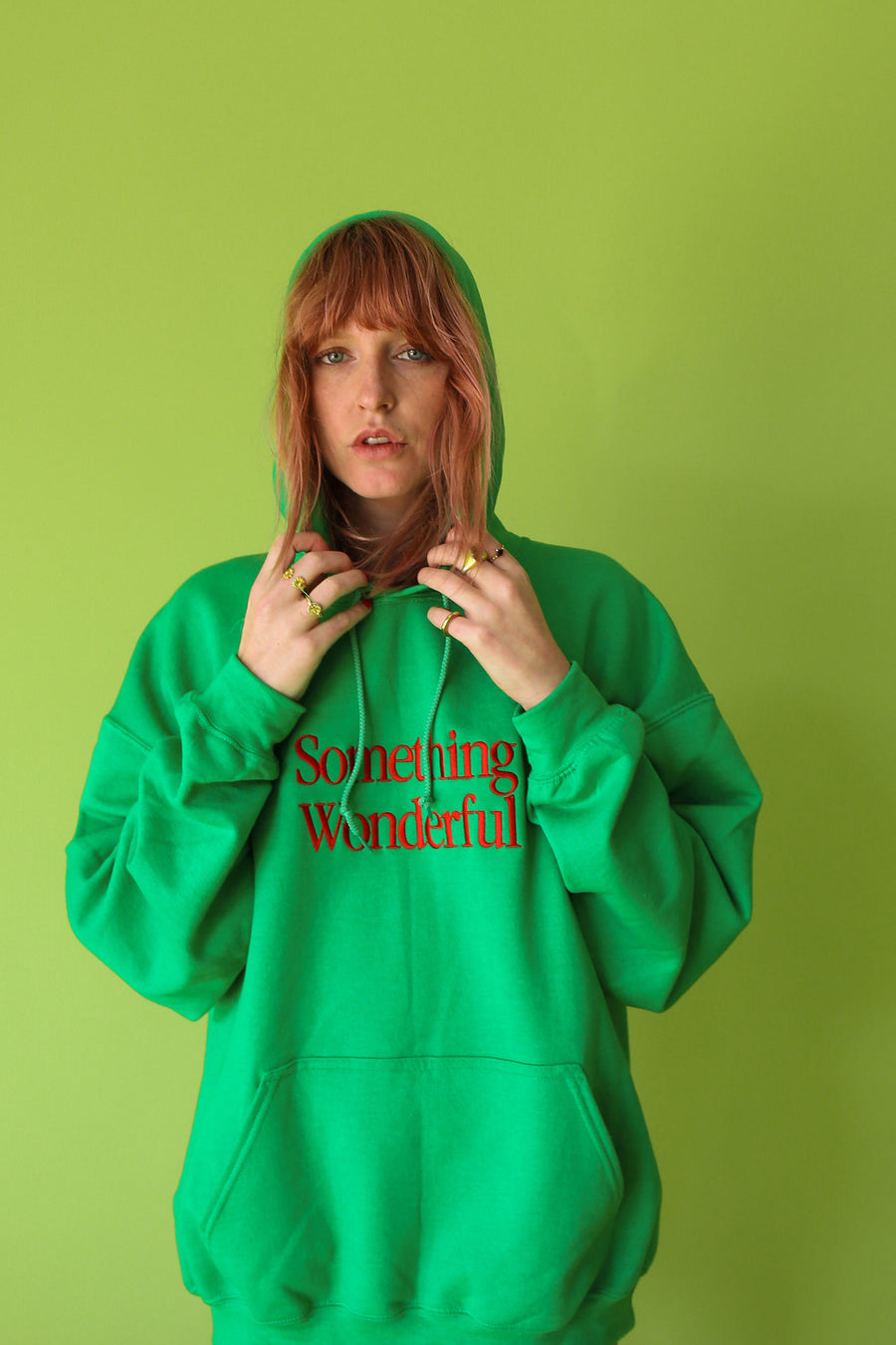 LOGO HOODED SWEATSHIRT GREEN