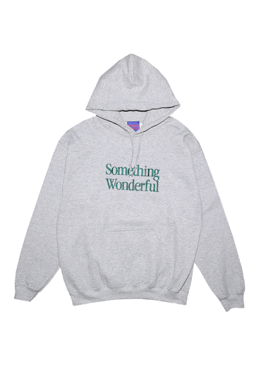 LOGO HOODED SWEATSHIRT GREY