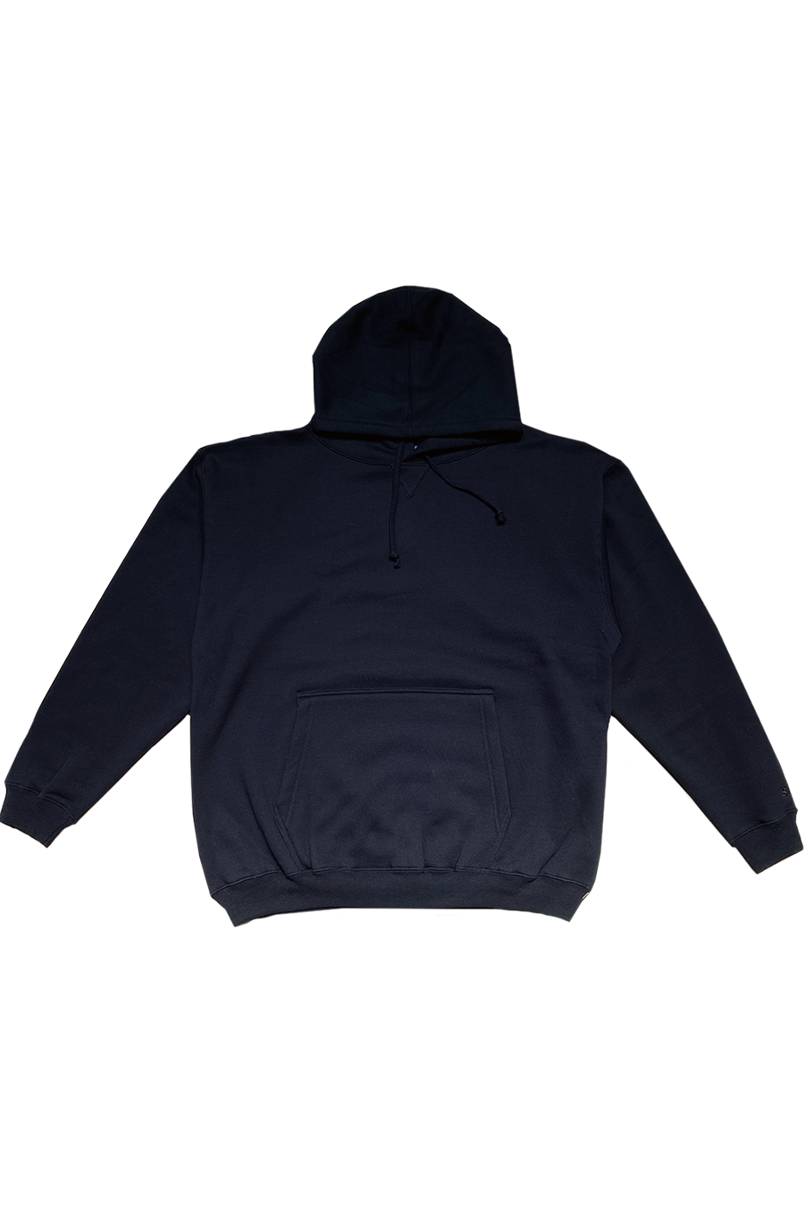 LEISURE93 - BLACK - HOODED SWEATSHIRT
