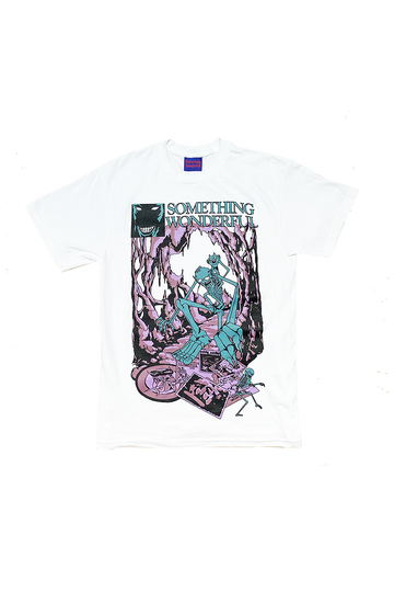 LEISURE93 - WHITE/TEAL - T-SHIRT