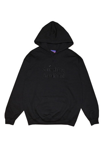 LOGO HOODED SWEATSHIRT BLACK