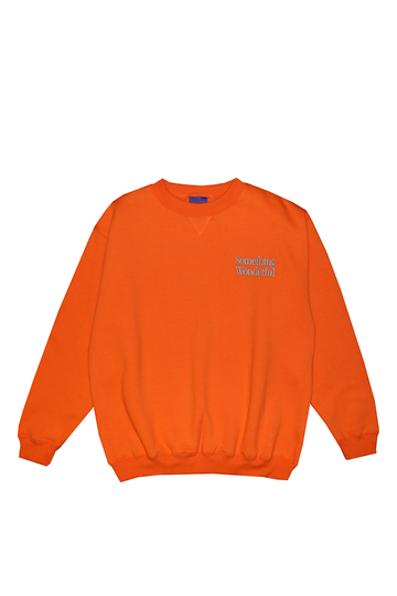 LOGO CREWNECK SWEATSHIRT ORANGE