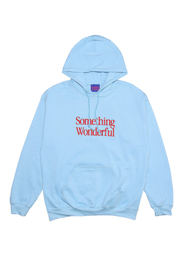 LOGO HOODED SWEATSHIRT LIGHT BLUE