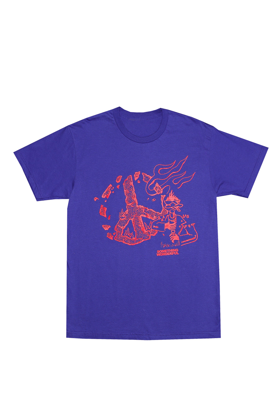 PEACE T-SHIRT COBALT