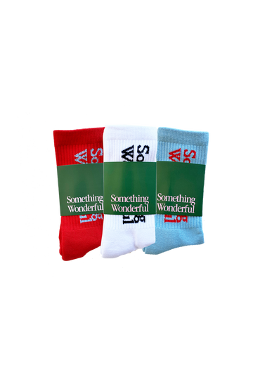 Three Pack Logo Socks