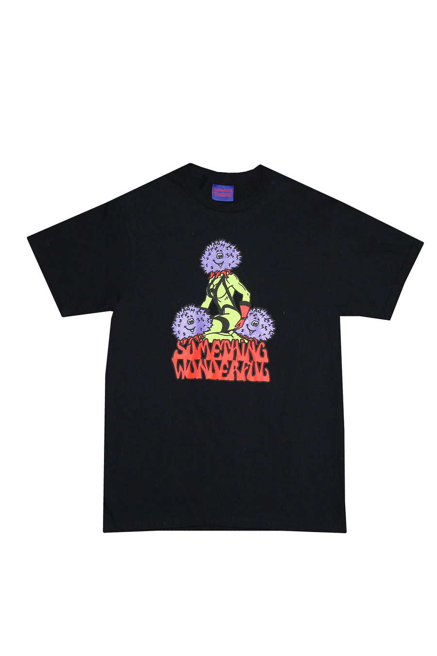 THREE'S COMPANY T-SHIRT PUFF PRINT BLACK