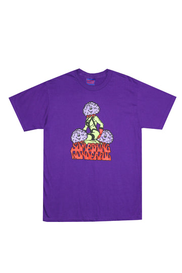 THREE'S COMPANY T-SHIRT PURPLE