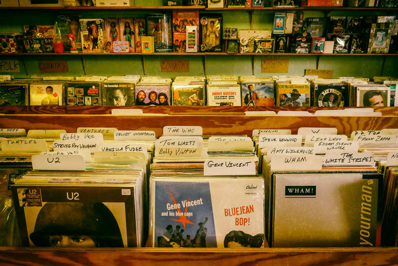organized vinyl records