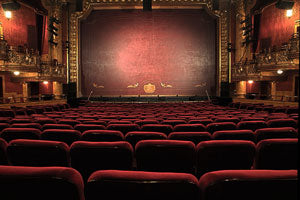 empty red theater