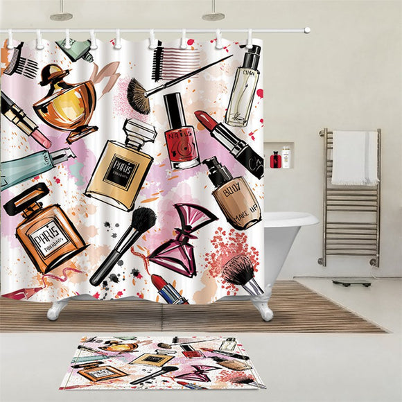 Girly Makeup Shower Curtains