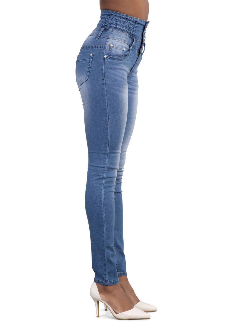 Autumn and Winter Women's High Waist Stretch Large Size Jeans
