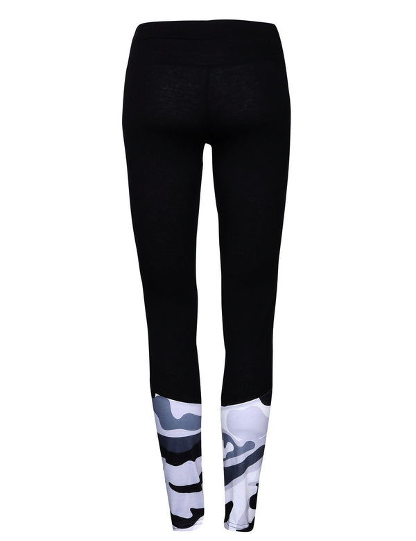 Camo stitching yoga pants - Fancyqube
