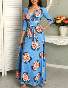 Belted Wrap Maxi Dress