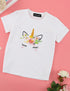 Unicorn Print Baby Kids Birthday Gift Holiday Costume T-Shirts