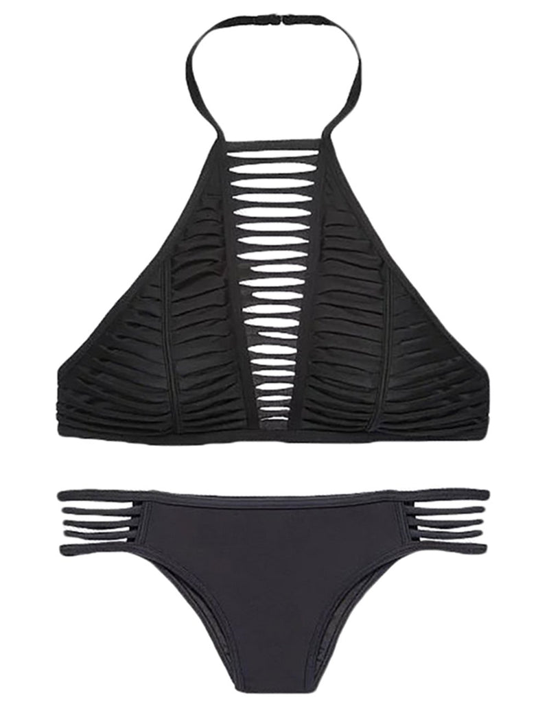 Hollow Bikini Split Swimsuit - Fancyqube