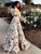 Butterfly Print Two-Piece Long Sleeve Bohemian Casual Maxi Beach Dress