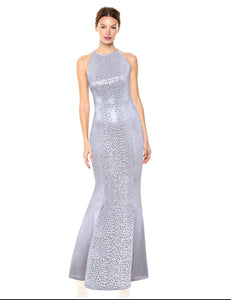 Sexy Halter Backless Lace UP Sequin Party Maxi Dress