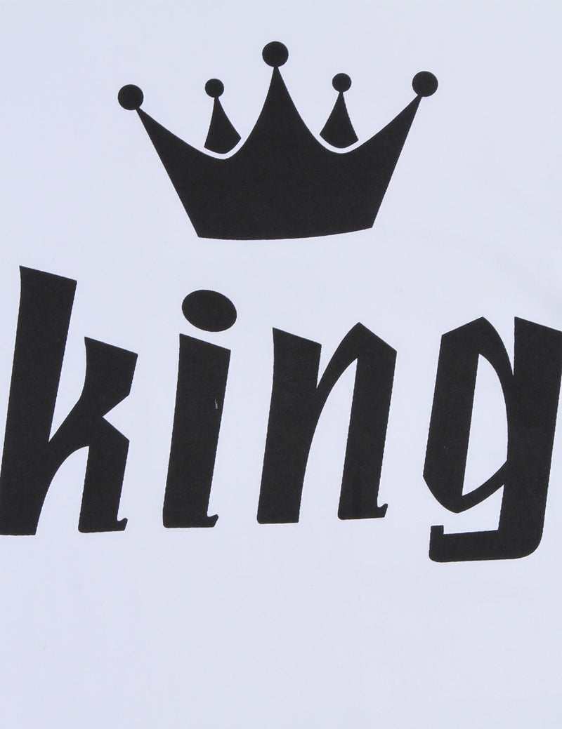 king crown printed short tee