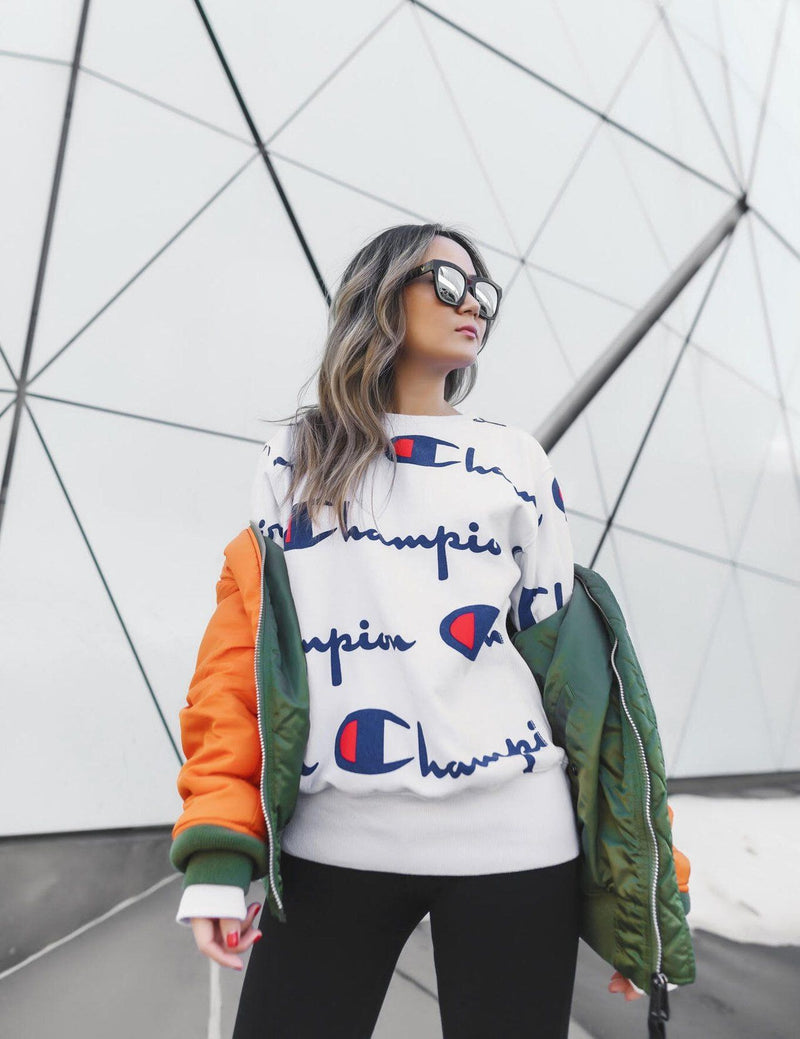 2018 New Autumn Long Sleeve Letter Printed Street Style Blouse