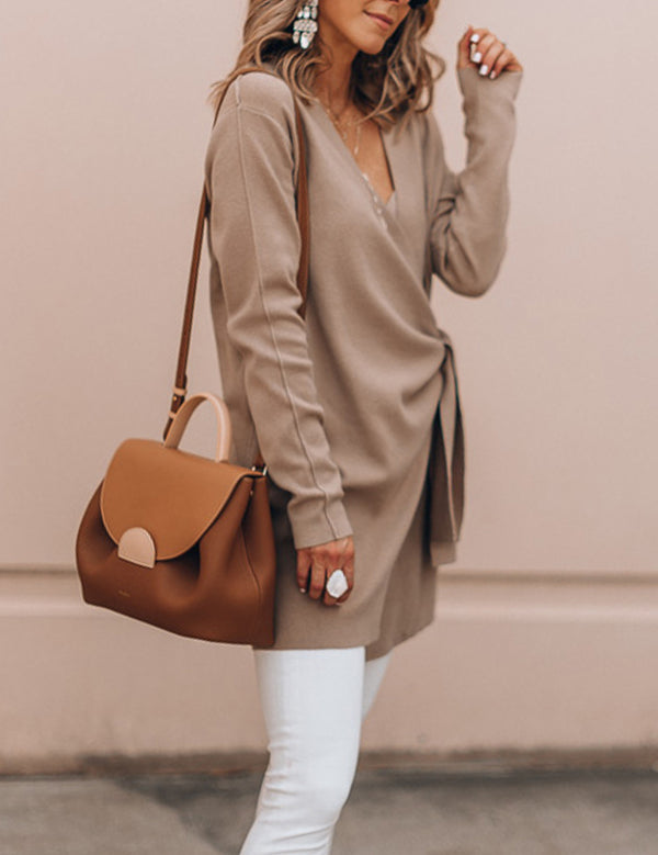 Wrap Coat Camel