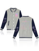 New Long Sleeve Buttons Pockets Grey Baseball Uniform Sweatshirt