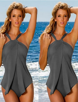 Plus Size Sling One Piece Swimsuit - Fancyqube