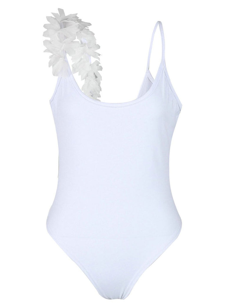 Three-Dimensional Lace Backless One-Piece Swimsuit - Fancyqube