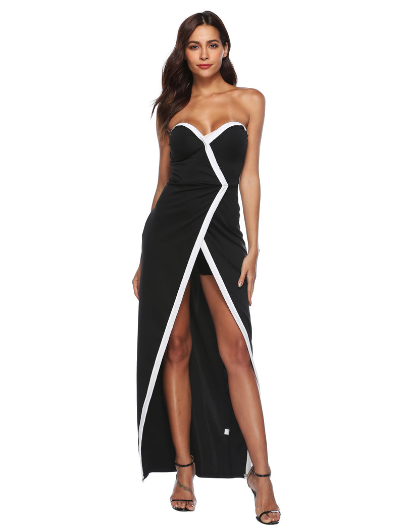 New Sexy Sweetheart Front Split Maxi Party Dress