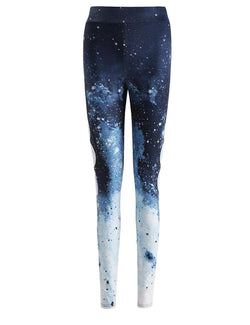 Lunar Star Gradient Print Women's Casual Yoga Pants - Fancyqube