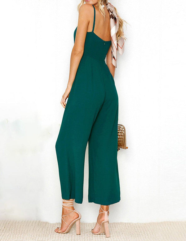 Fashion Sexy Slip Wrap Jumpsuit